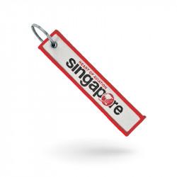 Porte-clés textile tissé