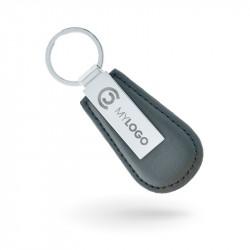 Porte-clés en cuir et métal...