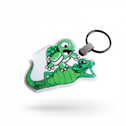 Custom printed keychain in...
