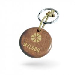 Custom wood keychain