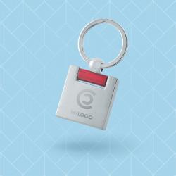 Porte-clé métal anneau...