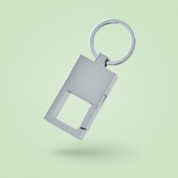 Porte-clé métal avec ouverture