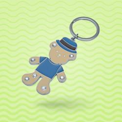 Porte-clé ours mascotte métal