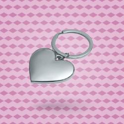 Porte-clé cœur métal