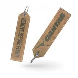 Porte-clés cuir personnalisé