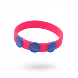 Bracelet silicone avec boutons